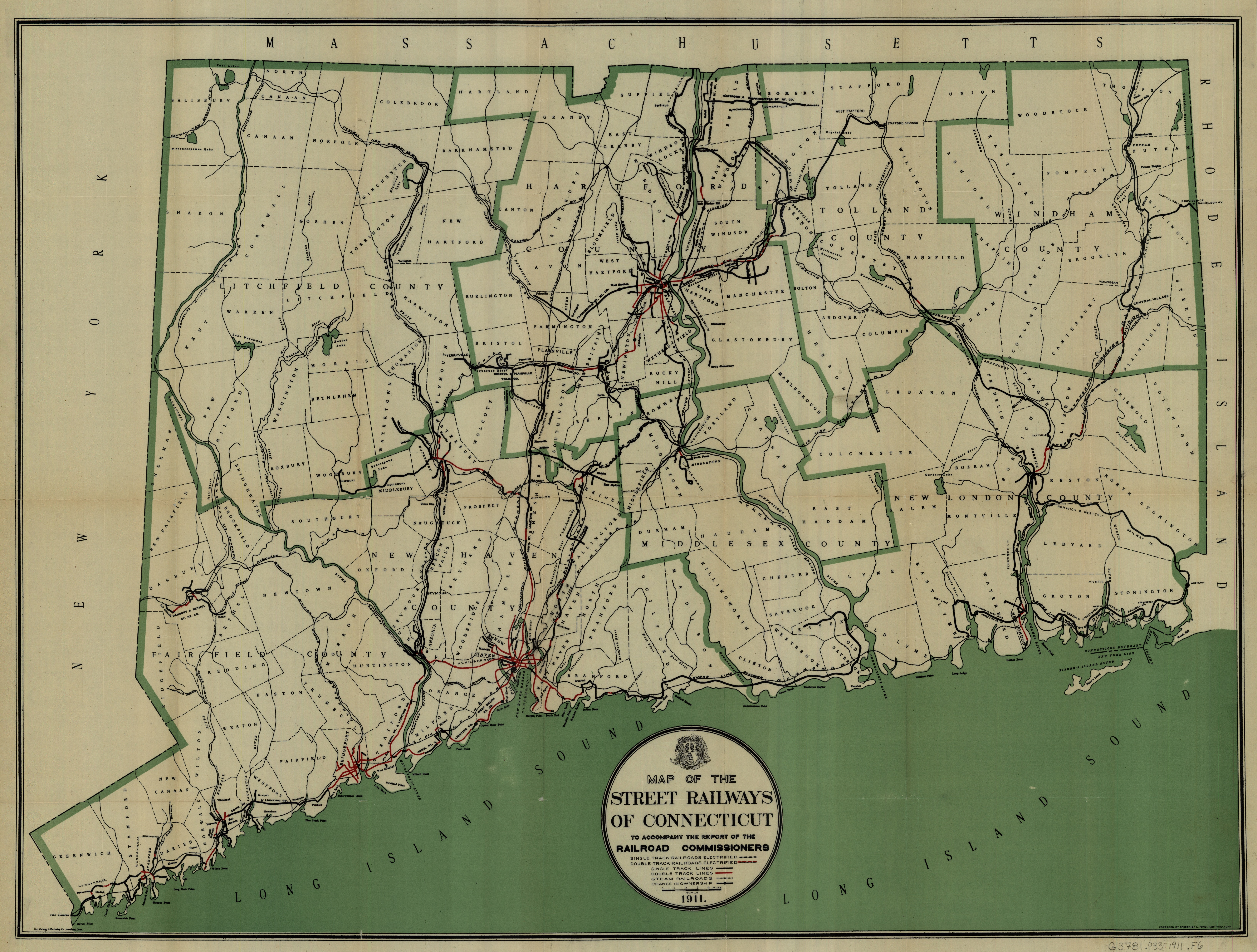 Manchester Historical Society - Road map of connecticut